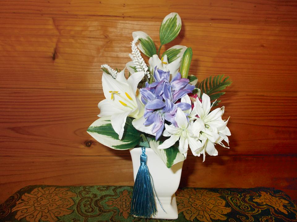 造花で作る供花